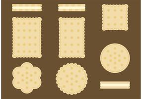Vecteurs de biscuits à thé élevés vecteur