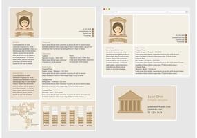 Vector Curriculum Vitae pour l'architecte