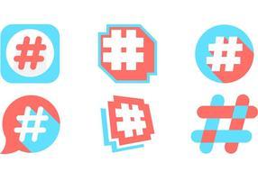 Icône de vecteur hashtag gratuite