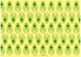 Vecteur de motif de plumes de vert de citron vert