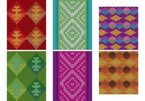 Vecteurs textiles traditionnels américains vecteur