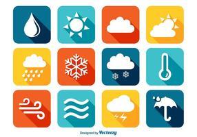 Icônes météorologiques colorées