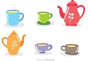 Vecteurs de set de thé élevé