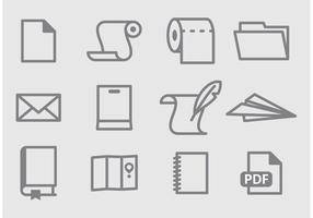 Icônes de vecteur papier