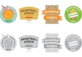 Logos vectoriels de basketball vecteur