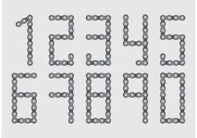 Vecteurs de numéro de chaîne de vélo