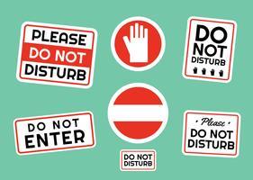 Ne pas déranger les vecteurs de signes