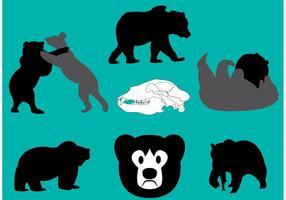 Vecteurs d'ours californiens vecteur