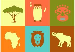 Icônes vectorielles en Afrique vecteur