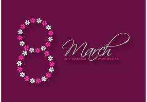 Carte de voeux gratuite pour la fête des femmes vecteur