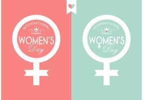 Design de typographie de la journée des femmes vectorielles gratuites