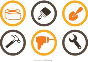 Vector d'icônes de rénovation domiciliaire