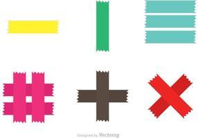 Vecteurs de bande adhésive colorés