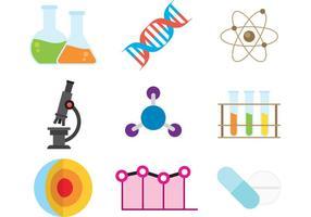 Icônes vectorielles scientifiques