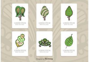 Cartes d'illustration d'arbre vecteur