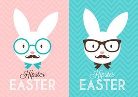 Lapin de Easter Hipster gratuit vecteur