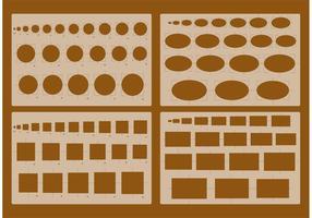 Vecteurs de stencil d'architecture