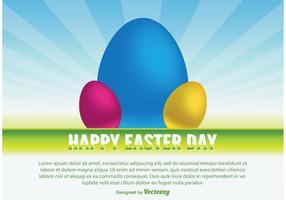 Bonne illustration vectorielle de Pâques