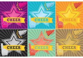 Vecteurs de fond de cheerleading vecteur