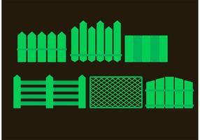 Vecteurs de clôtures verts vecteur