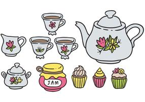 Vecteurs colorés gratuits de thé