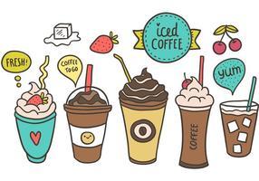 Vecteur libre de café glacé