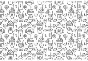 Vecteur de motif sans soudure gratuit de café glacé