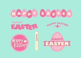 Ensemble de graphiques vectoriels heureux de Pâques