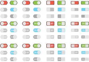 Vecteurs de bouton sur les boutons vecteur