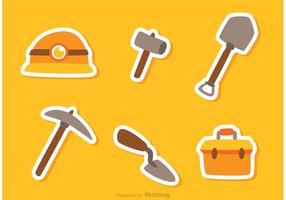Vecteurs d'autocollants pour outils de construction vecteur