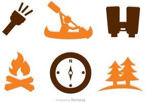 Collection d'icônes d'aventure vecteur