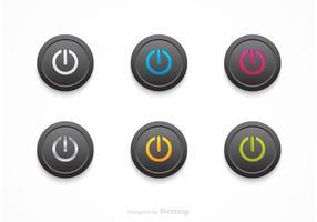 Vecteur libre noir sur les boutons arrêtés
