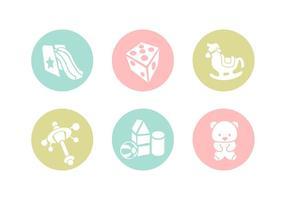 Icônes de vecteur de jouets gratuits