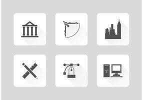 Vecteur gratuit d'outils d'architecture