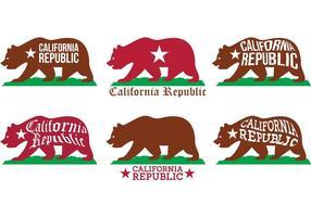 Vecteurs d'ours californiens