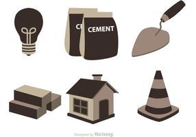 Vecteur d'icônes de construction