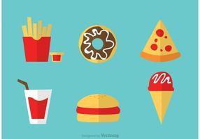 Ensemble de vecteurs d'icônes alimentaires vecteur