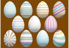 Vecteurs d'oeufs de Pâques