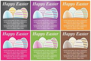 Cartes vectorielles de Pâques vecteur
