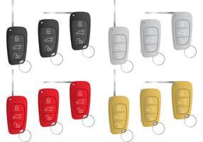 Vecteurs clés de voiture vecteur