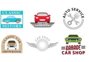 Vecteurs de logo de concessionnaire automobile vecteur