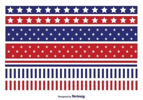 Ensemble de bordure de vecteur patriotique