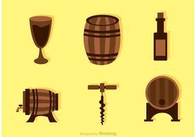 Collection de vecteur d'icônes de whisky
