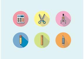 Les icônes d'outils d'architecture définissent le vecteur gratuit