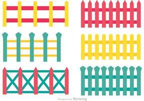 Vecteurs de clôture colorés vecteur