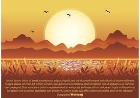 Illustration de scène de la nature