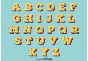 Alphabet Vintage Retro Style vecteur
