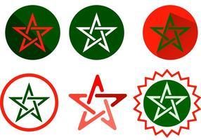 Vecteurs étoiles du Maroc vecteur