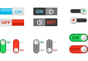 On off flat switch vector free