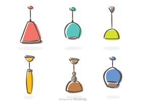 Vecteur moderne d'icônes de chandelier